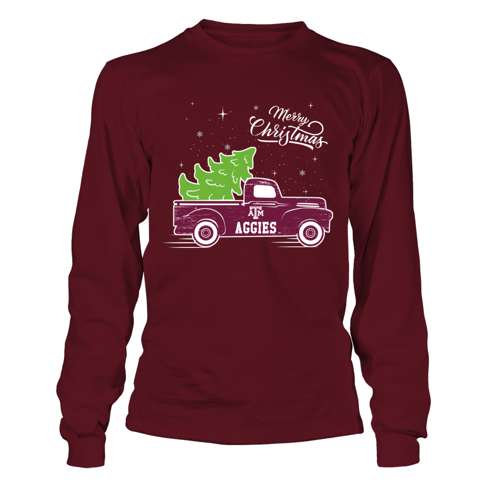 Texas A&M Aggies - Merry Christmas Truck Front picture