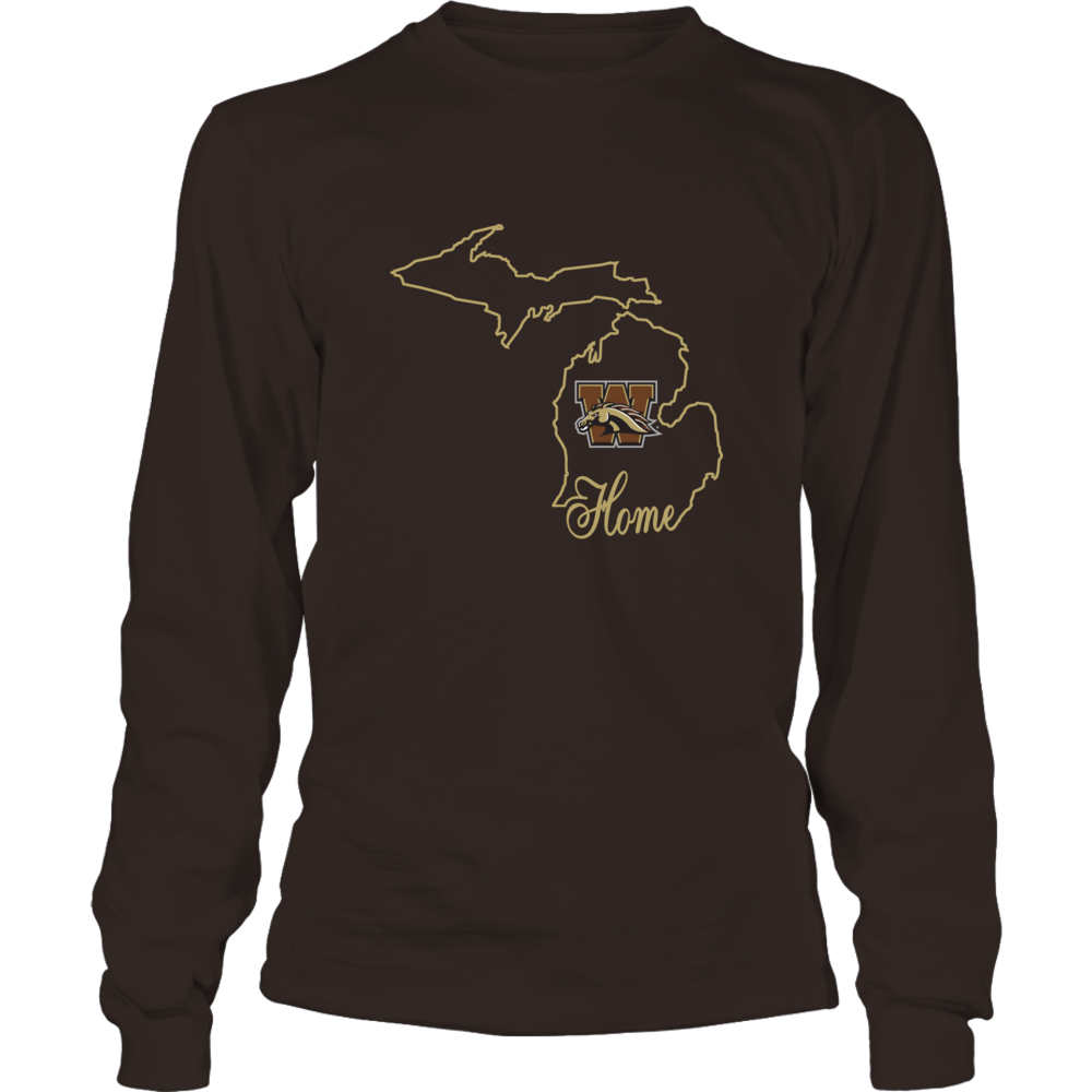 Western Michigan Broncos - Home In State Outline Front picture
