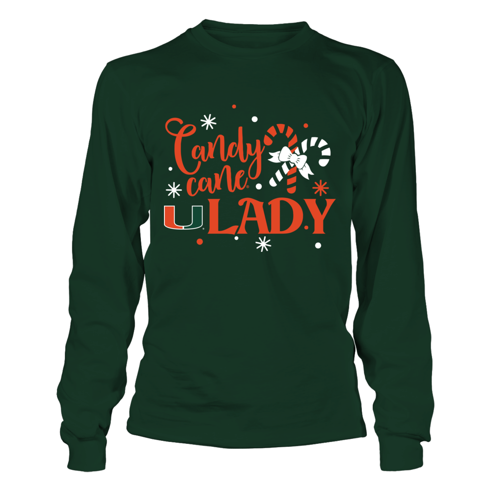 Miami Hurricanes - Candy Cane Lady Front picture
