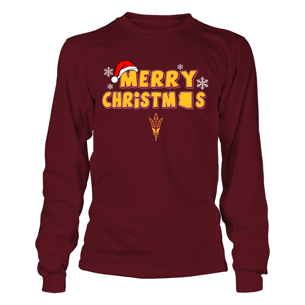Arizona State Sun Devils - Merry Christmas Logo Front picture