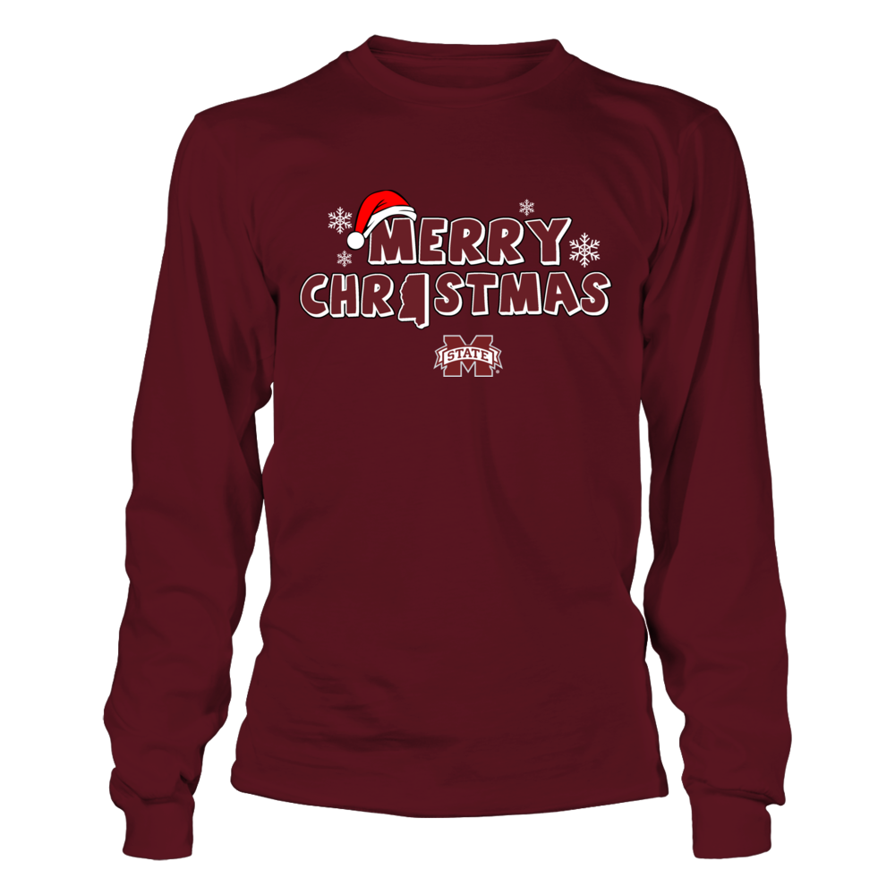 Mississippi State Bulldogs - Merry Christmas Logo Front picture
