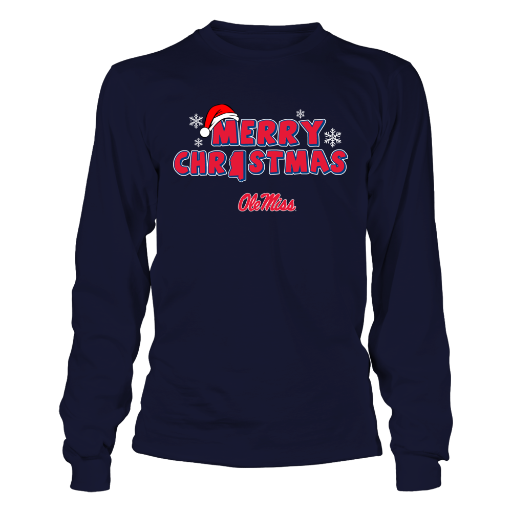 Ole Miss Rebels - Merry Christmas Logo Front picture