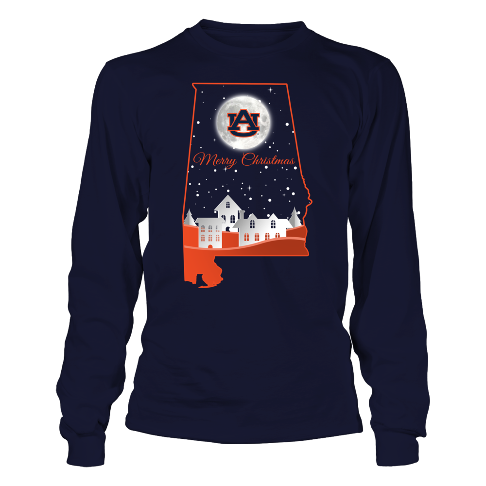 Auburn Tigers - Christmas Night Inside State Map Front picture