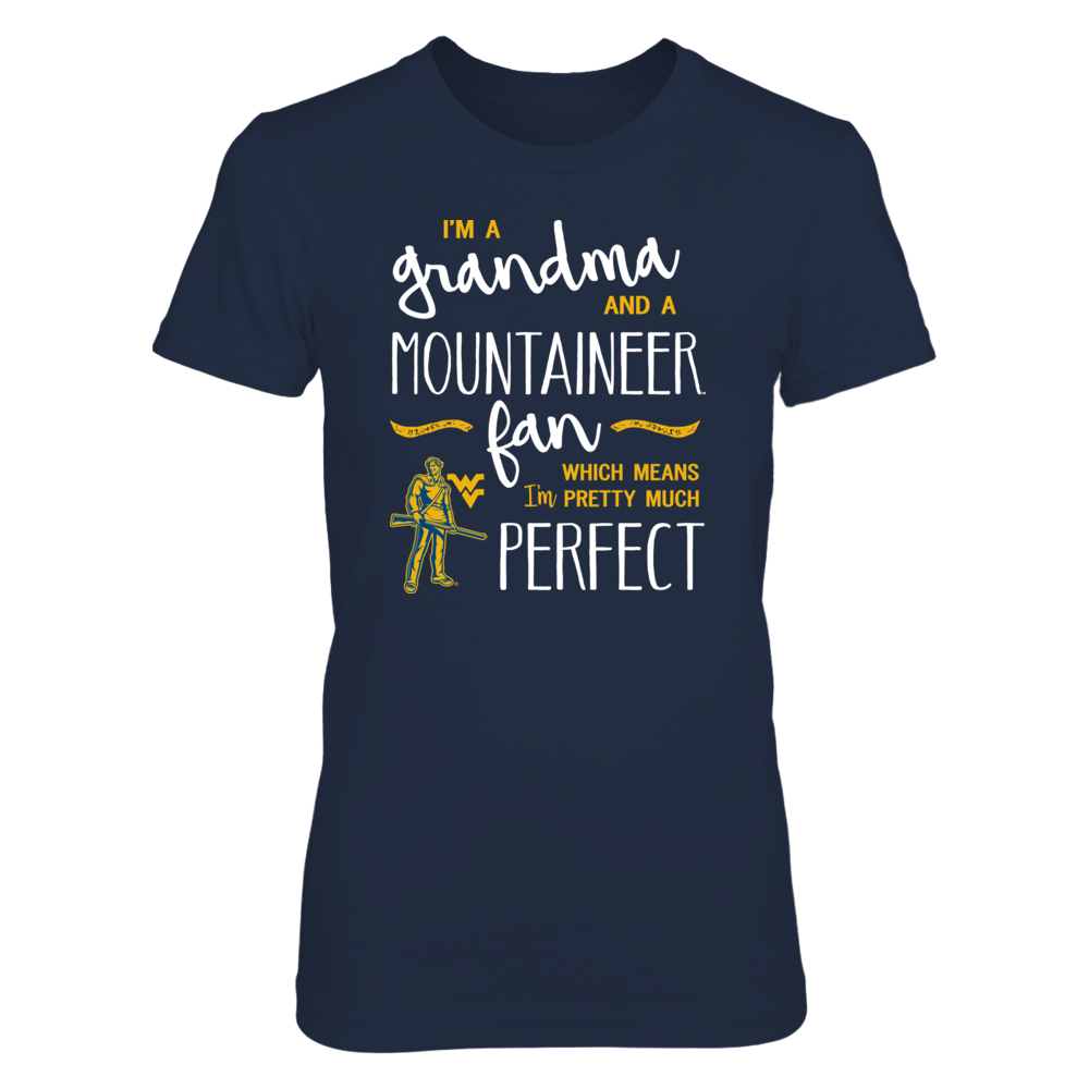 Perfect Grandma WVU Mountaineers Fan T-Shirt | Tank | Hoodie Front picture