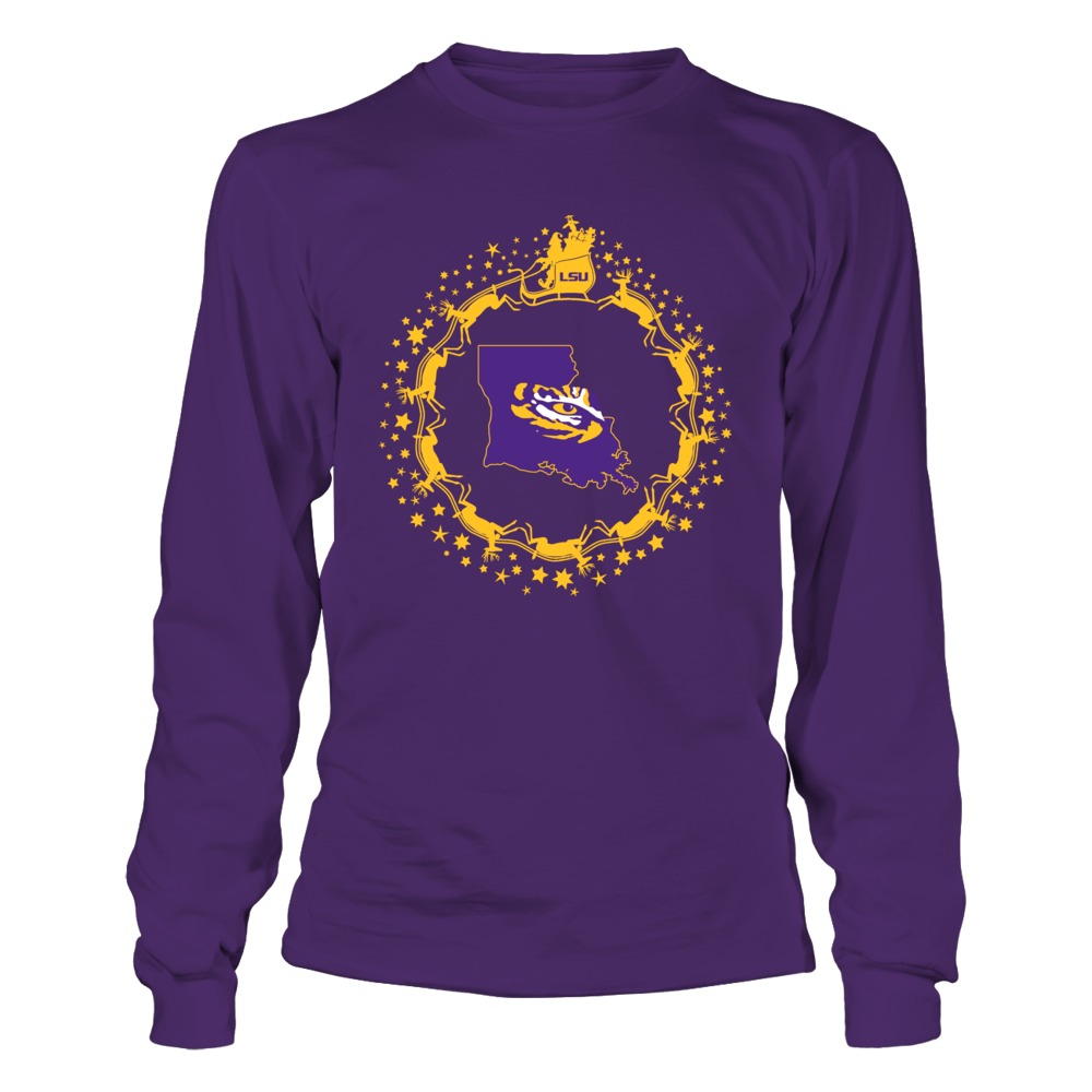 LSU Tigers - Snowflake Sleigh Front picture