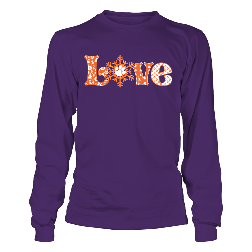 Clemson Tigers - Love Snowflake Front picture