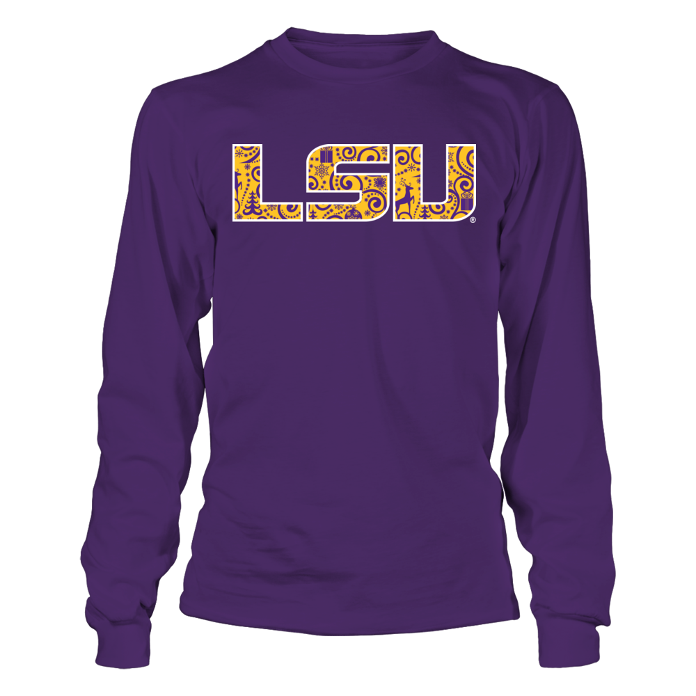 LSU Tigers - Christmas Logo Pattern Front picture