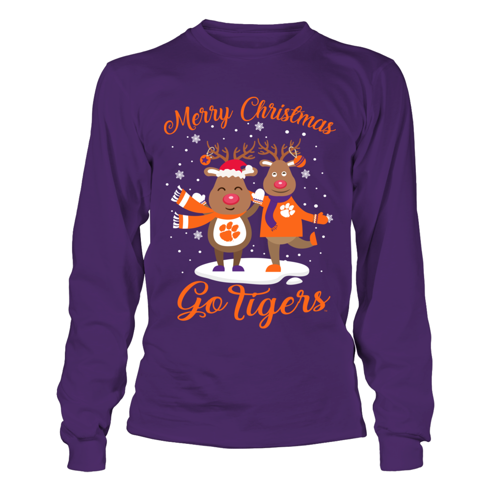 Clemson Tigers - Merry Christmas Rudolphs Front picture