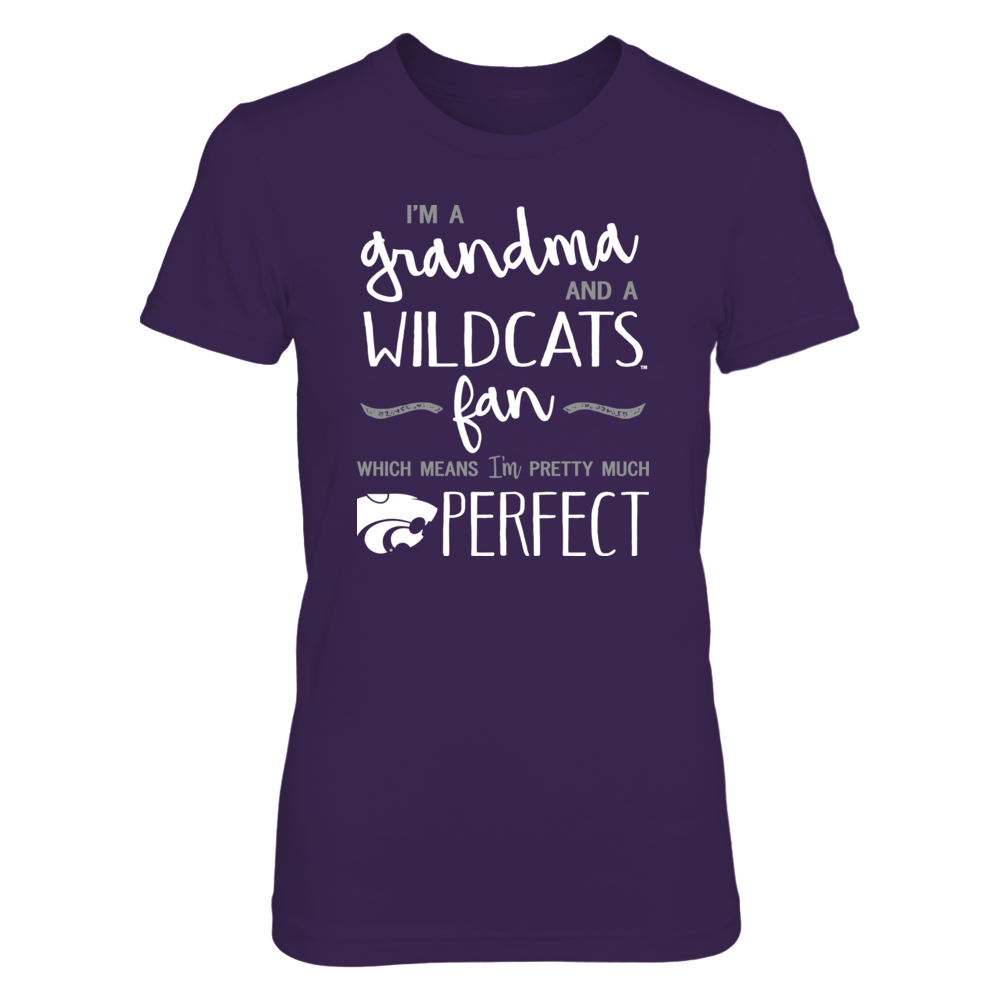 Perfect Grandma Kansas State Wildcats Fan T-Shirt | Tank | Hoodie Front picture