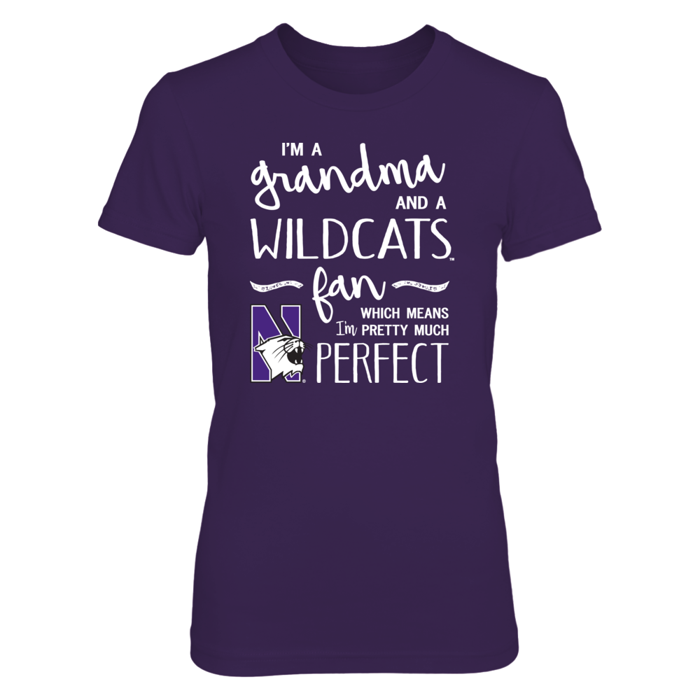 Perfect Grandma Northwestern Wildcats Fan T-Shirt | Tank | Hoodie Front picture