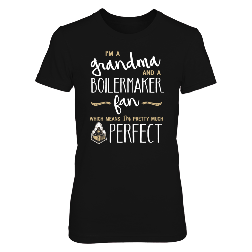 Perfect Grandma Purdue Boilermakers Fan T-Shirt | Tank | Hoodie Front picture