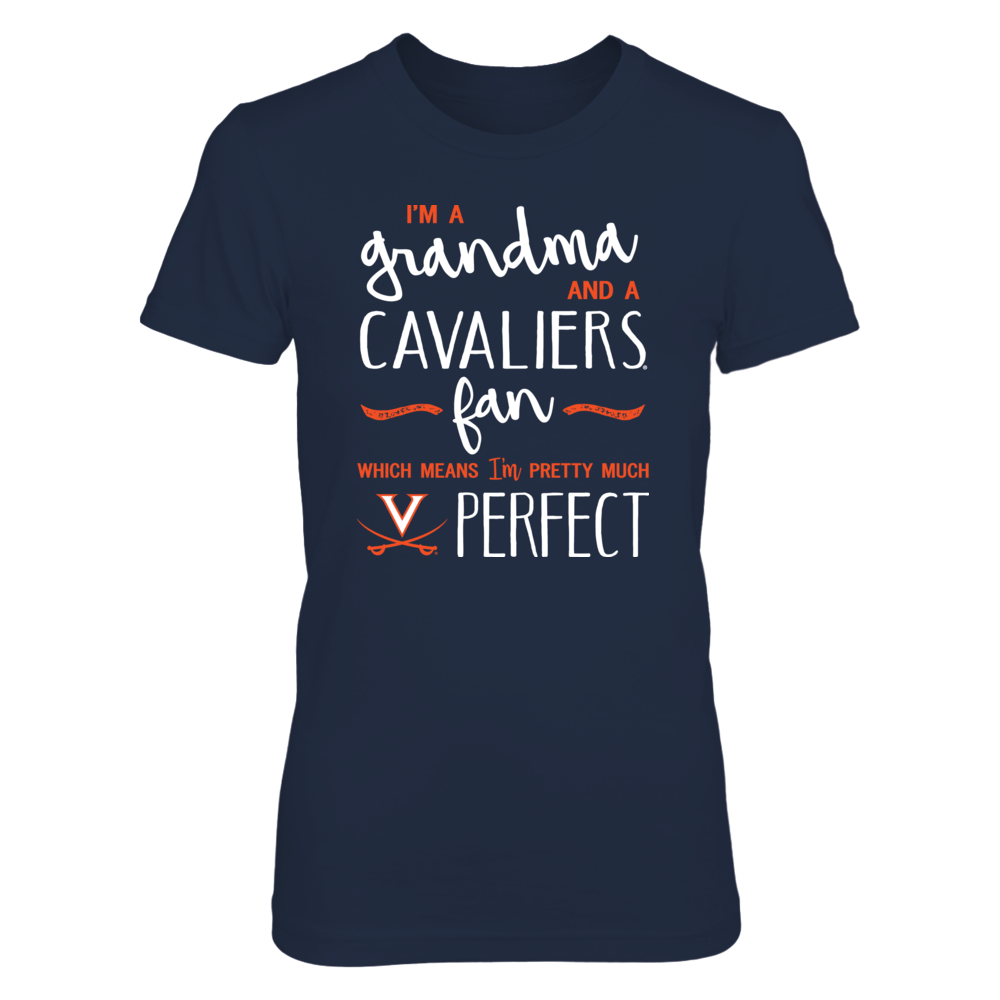 Perfect Grandma Virginia Cavaliers Fan T-Shirt | Tank | Hoodie Front picture