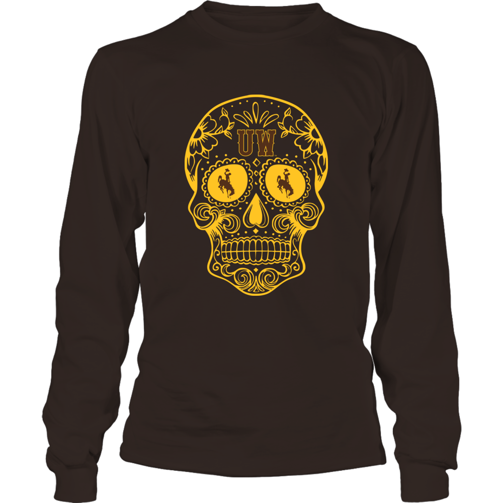 Wyoming Cowboys - Sugar Skull Logo Front picture