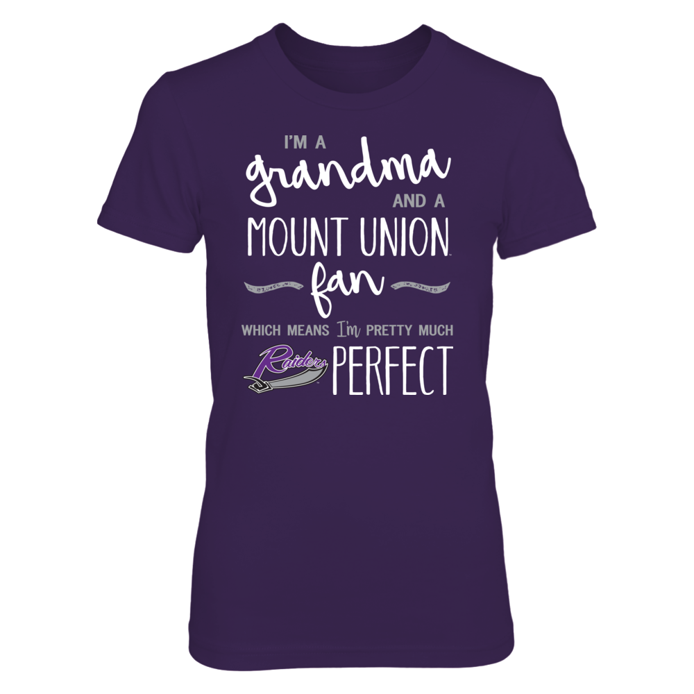 Perfect Grandma Mount Union Purple Raiders Fan T-Shirt | Tank | Hoodie Front picture