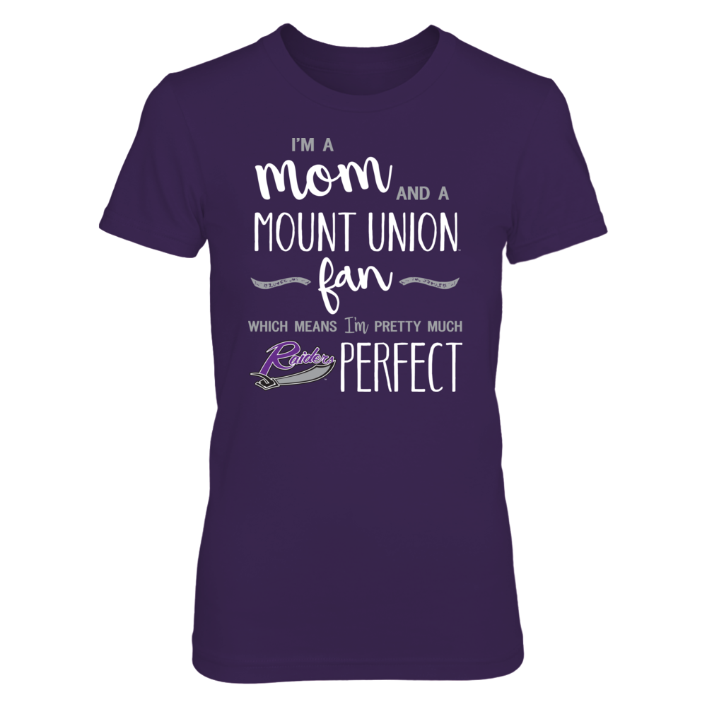 Perfect Mom Mount Union Purple Raiders Fan T-Shirt | Tank | Hoodie Front picture