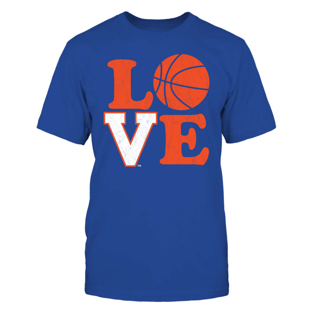 LOVE Virginia Cavaliers Basketball Retro Distressed Design Front picture