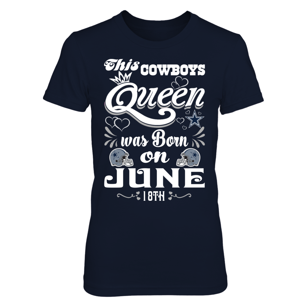 This Cowboys Queen Was Born On June 18th Front picture