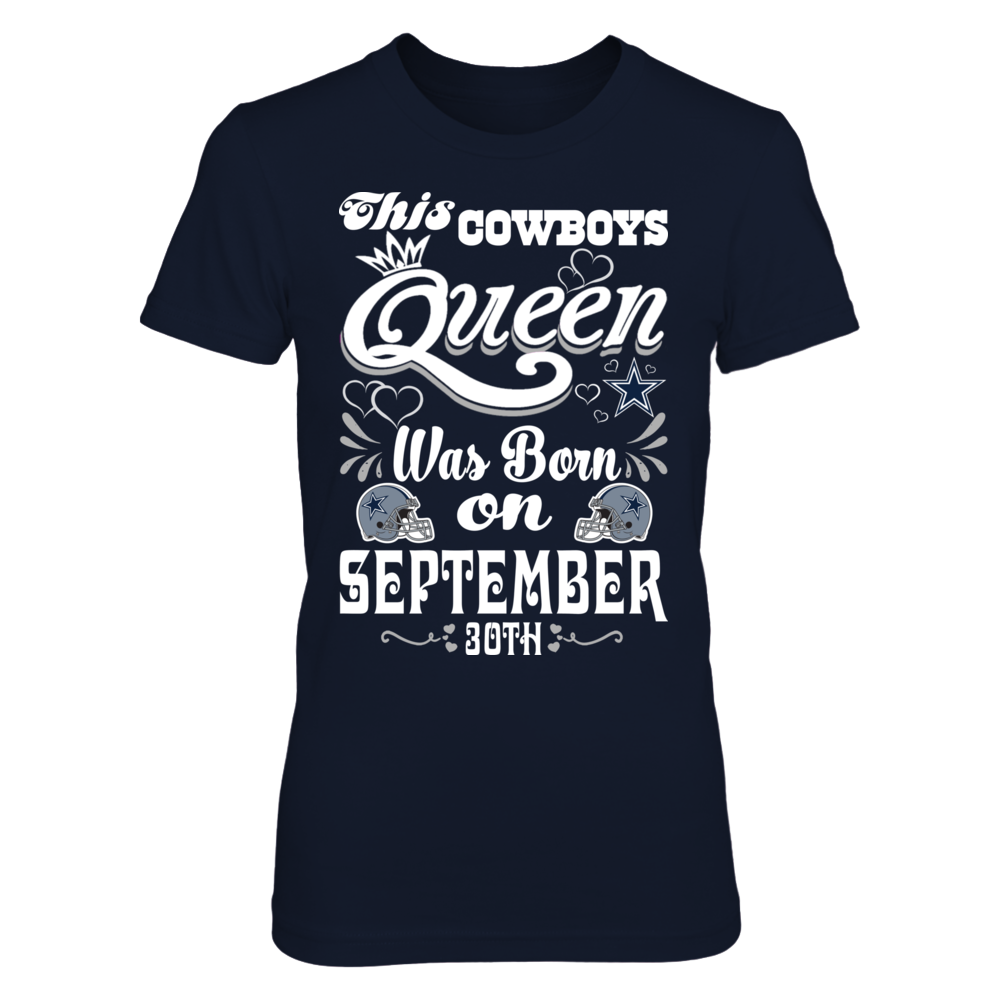 This Cowboys Queen Was Born On September 30th Front picture