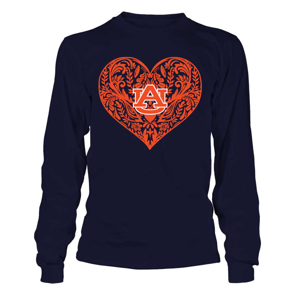 Auburn Tigers - Pattern Heart Front picture