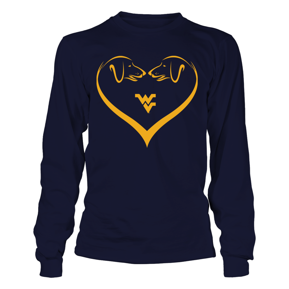 West Virginia Mountaineers - Dog Heart Front picture