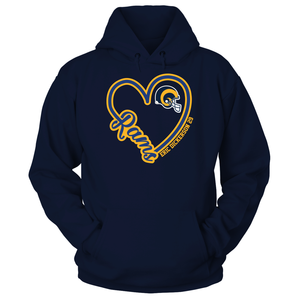 Los Angeles Rams Los Angeles Rams - Dickerson - Heart Script FanPrint