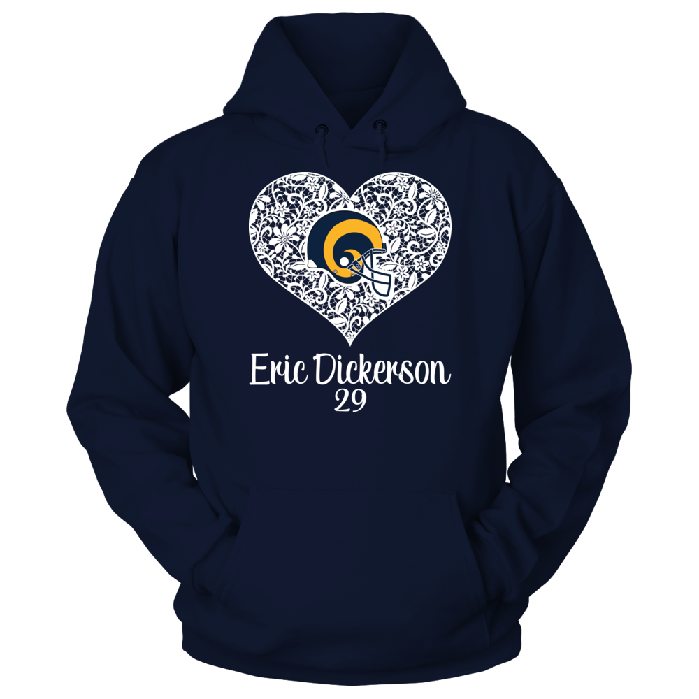 Los Angeles Rams Los Angeles Rams - Dickerson - Lace Heart Logo FanPrint