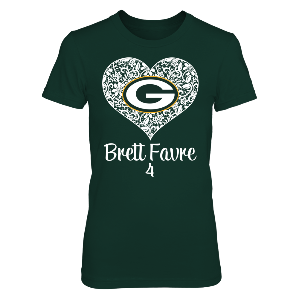 Green Bay Packers - Favre - Lace Heart Logo Front picture