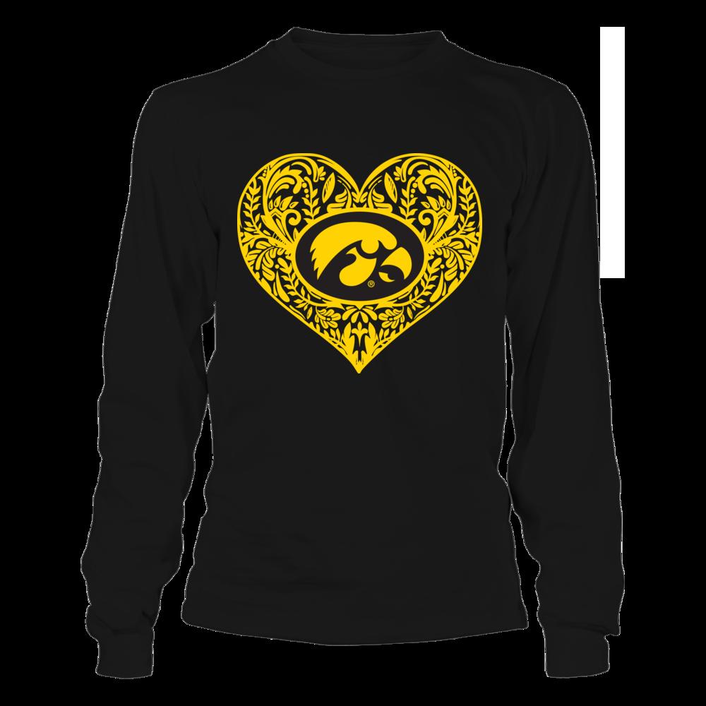 Iowa Hawkeyes - Pattern Heart Front picture