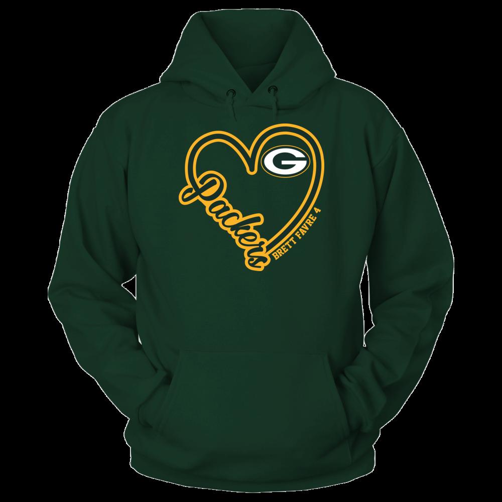 Green Bay Packers - Heart Script - Brett Favre Front picture