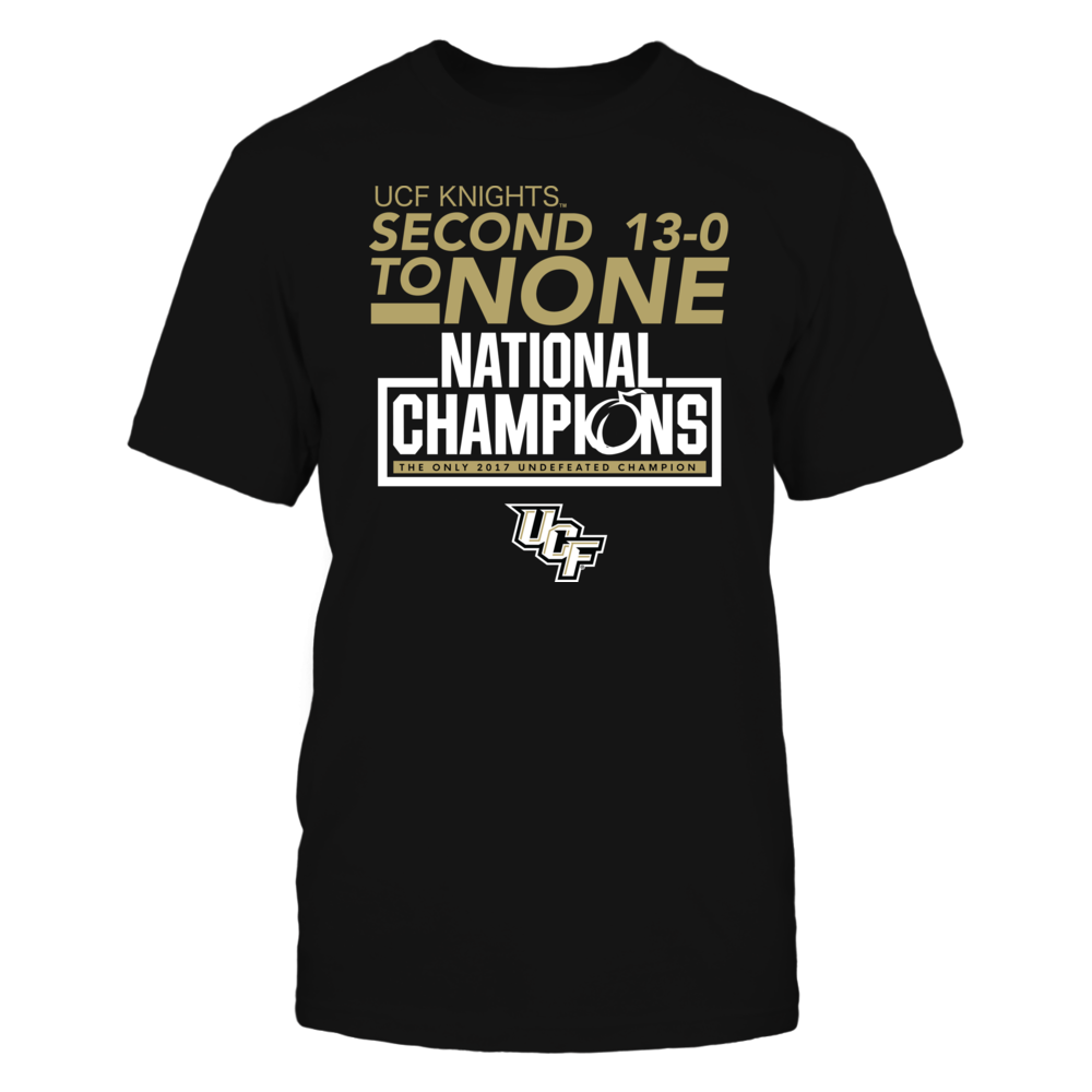 SECOND TO NONE NATIONAL CHAMPIONS - UCF KNIGHTS Front picture