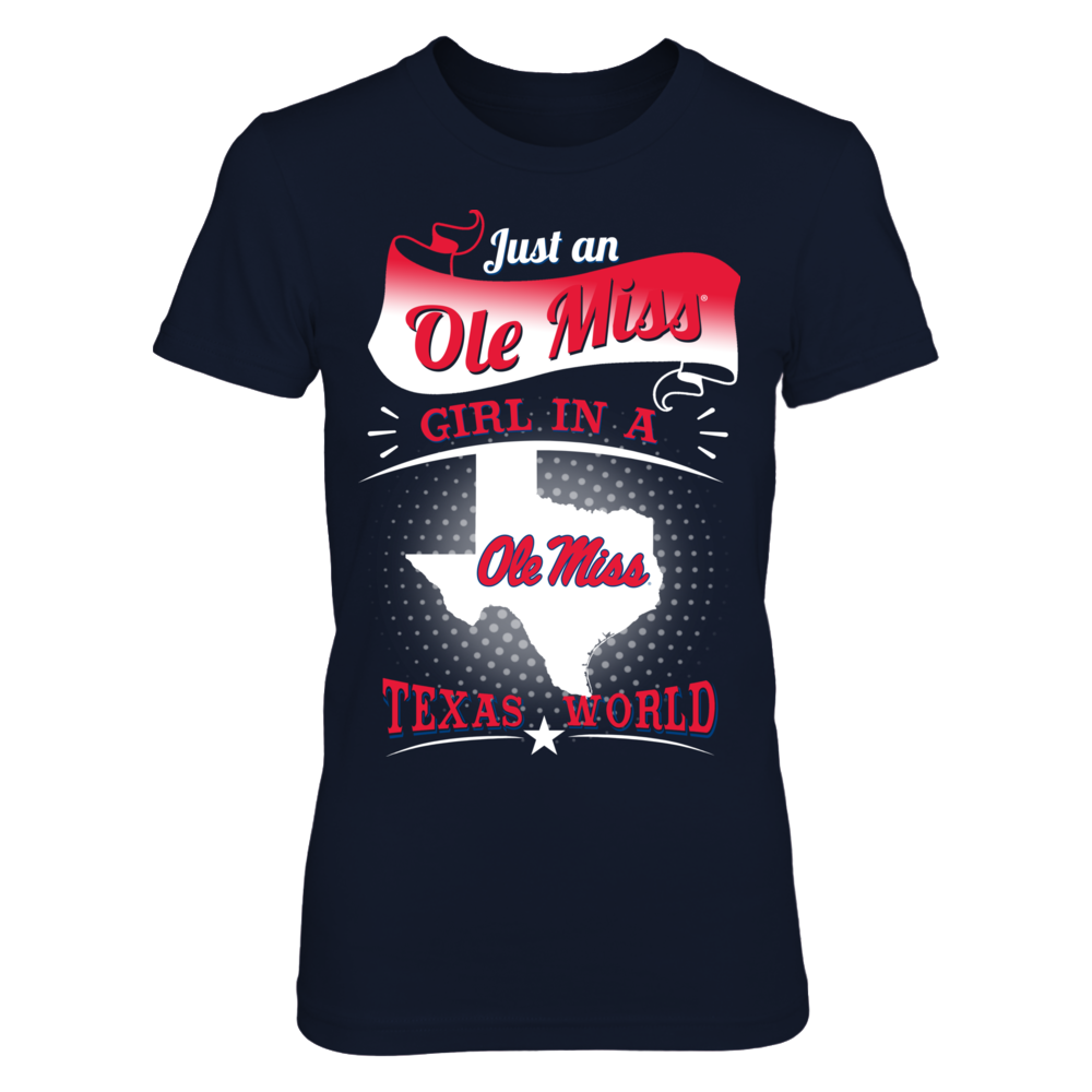 Ole Miss Rebels - Girl In A Texas World Front picture
