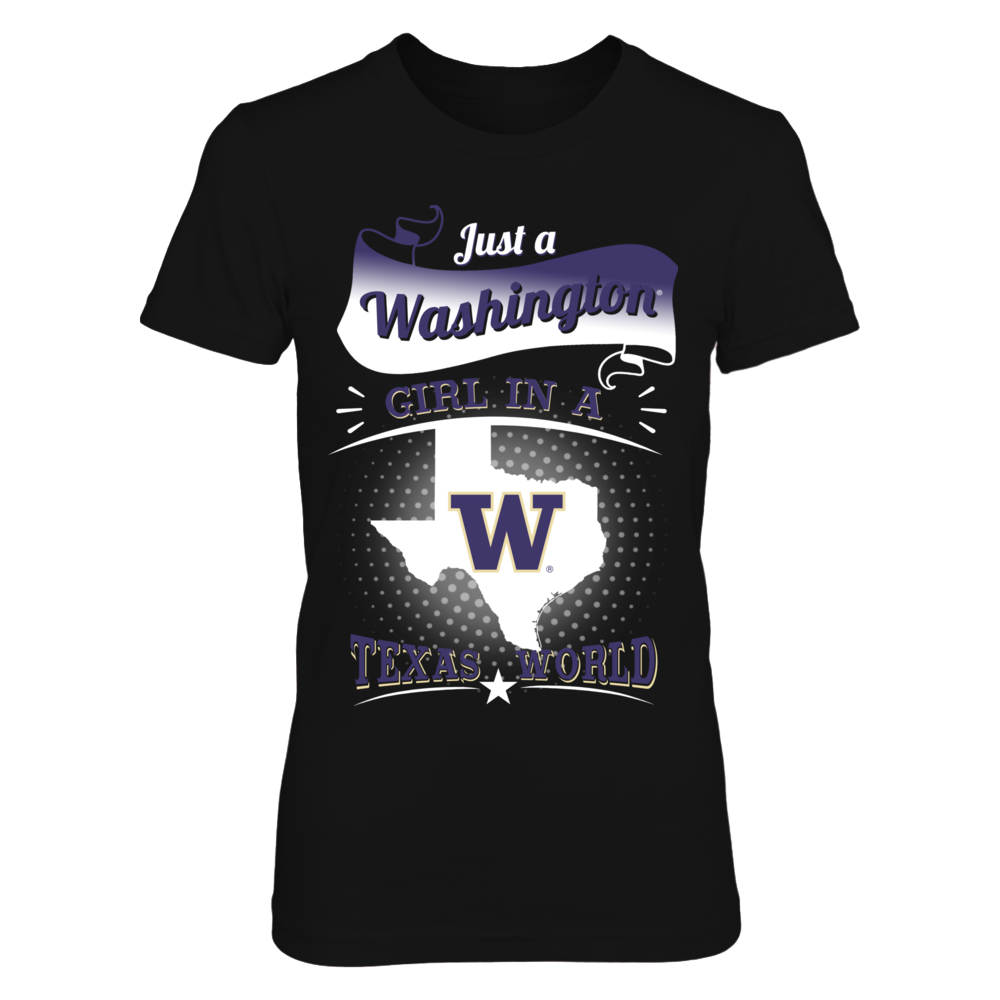 Washington Huskies - Girl In A Texas World Front picture