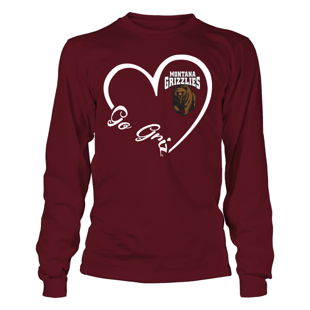 Montana Grizzlies - Heart 3/4 Front picture