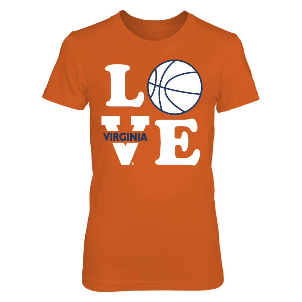 LOVE - Virginia Basketball Design - Go Hoos! Front picture