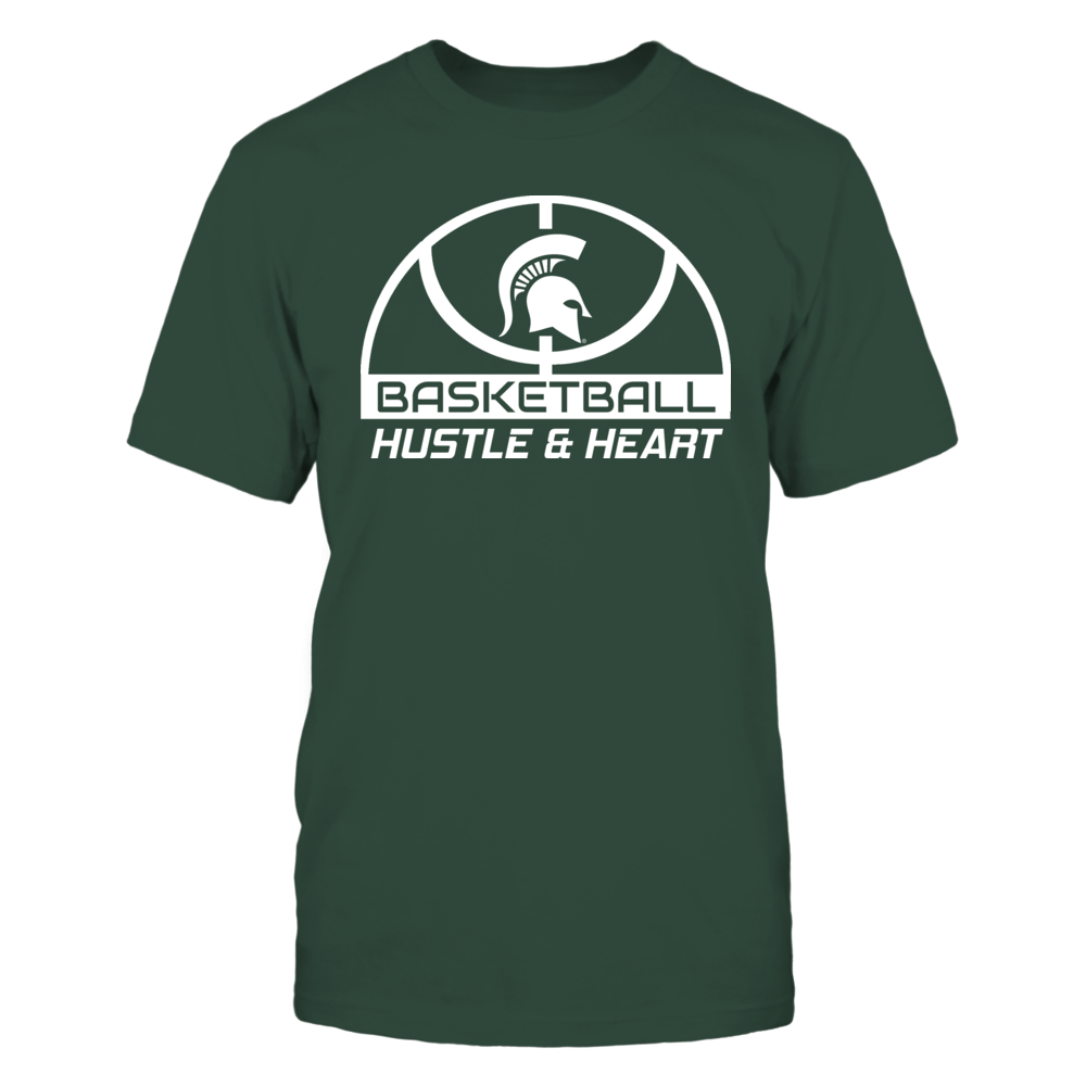 HUSTLE & HEART - MICHIGAN STATE SPARTANS Front picture