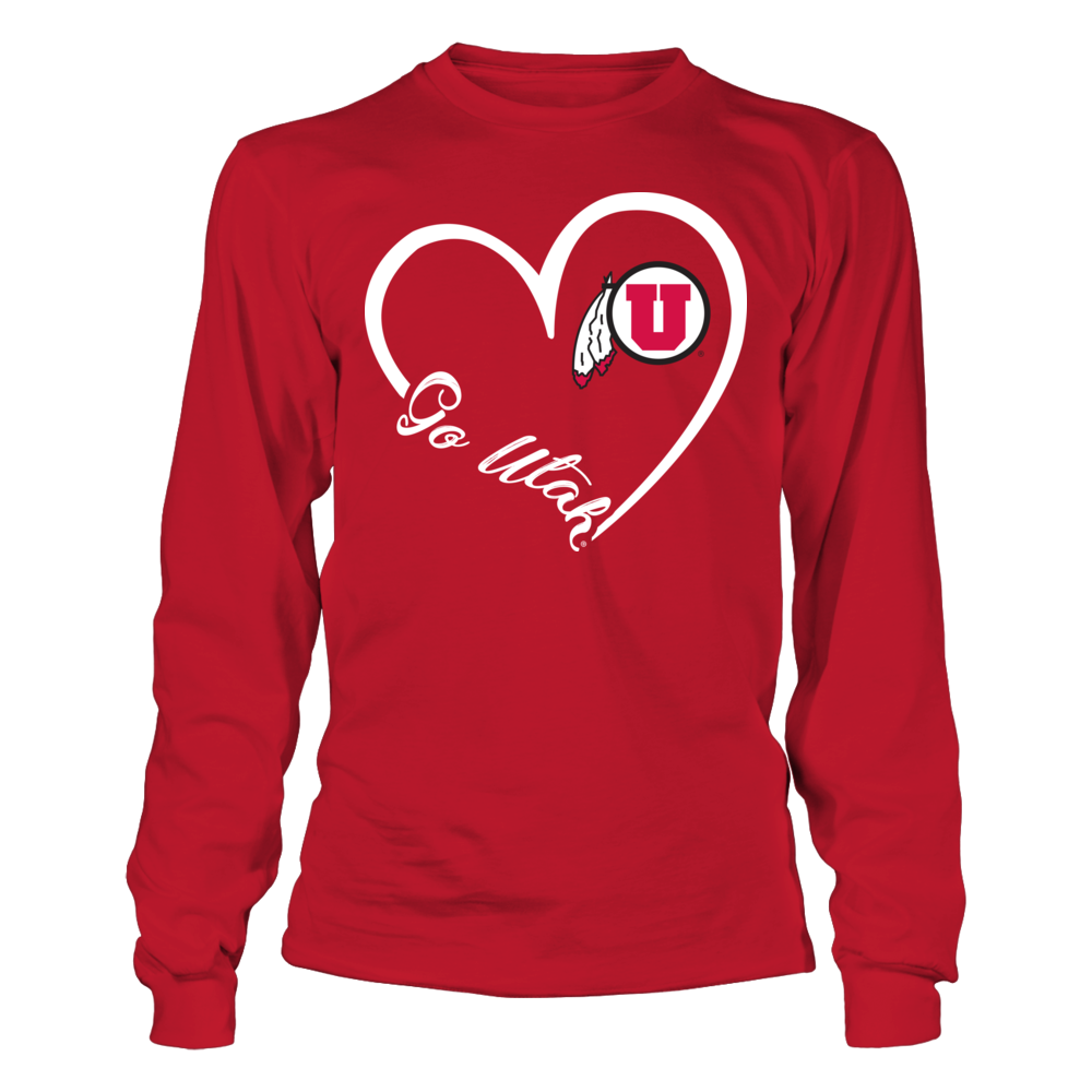 Utah Utes - Heart 3-4  - IF-IC32-DS75 Front picture