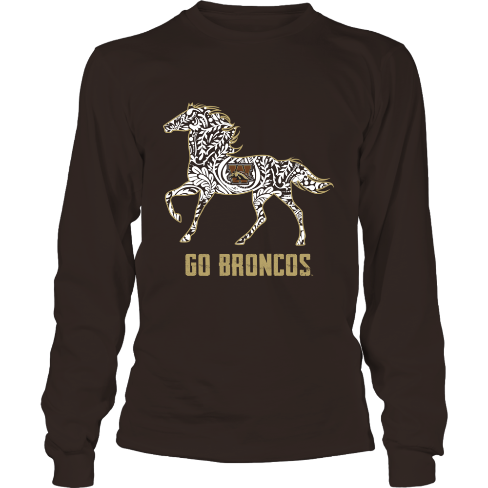 Western Michigan Broncos - Mascot Lace Pattern Front picture
