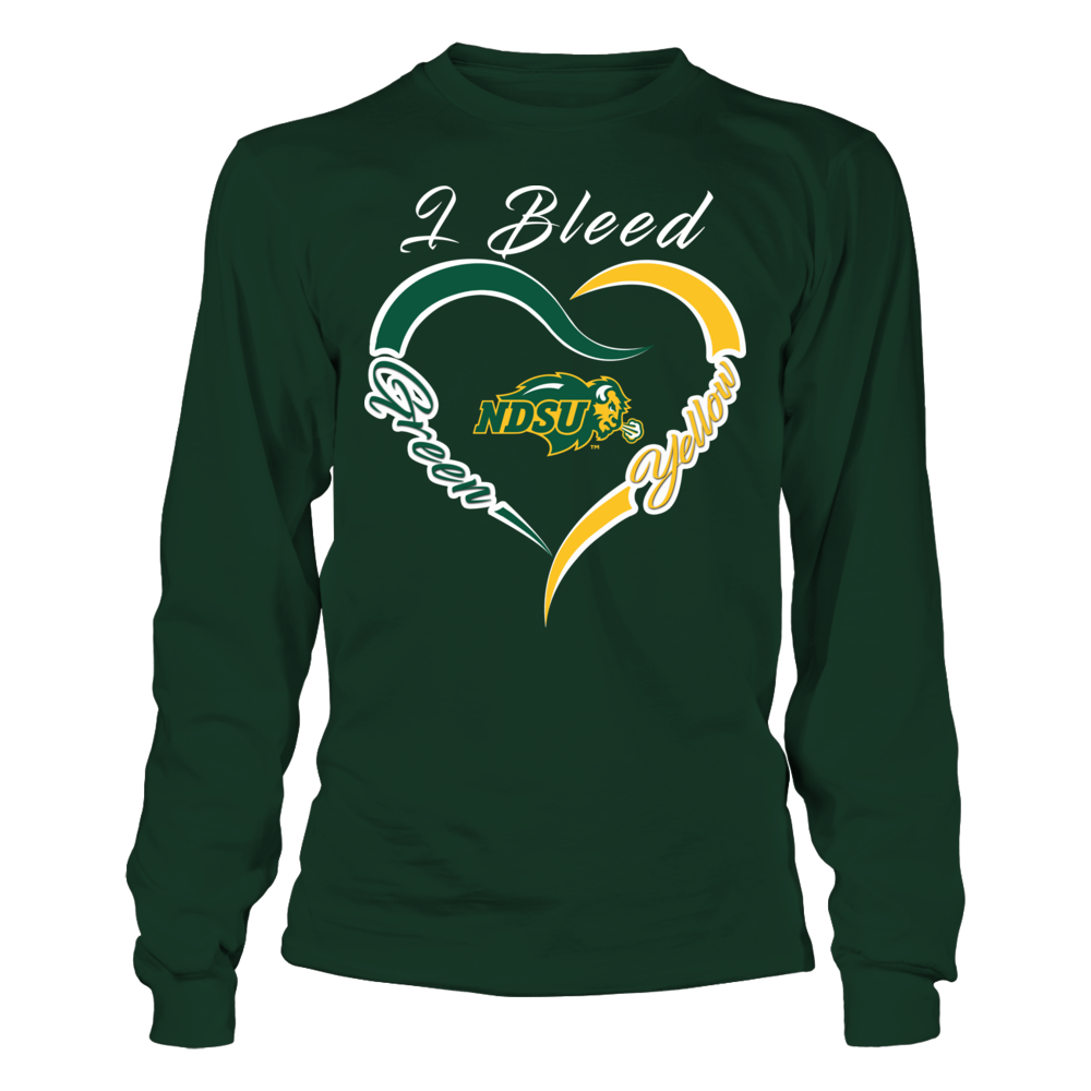 North Dakota State Bison - Half Heart Front picture