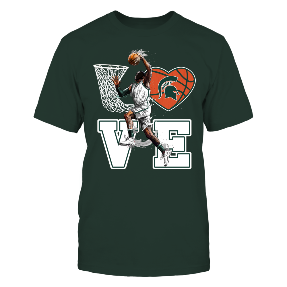 Michigan State Spartans - Love Basketball Front picture