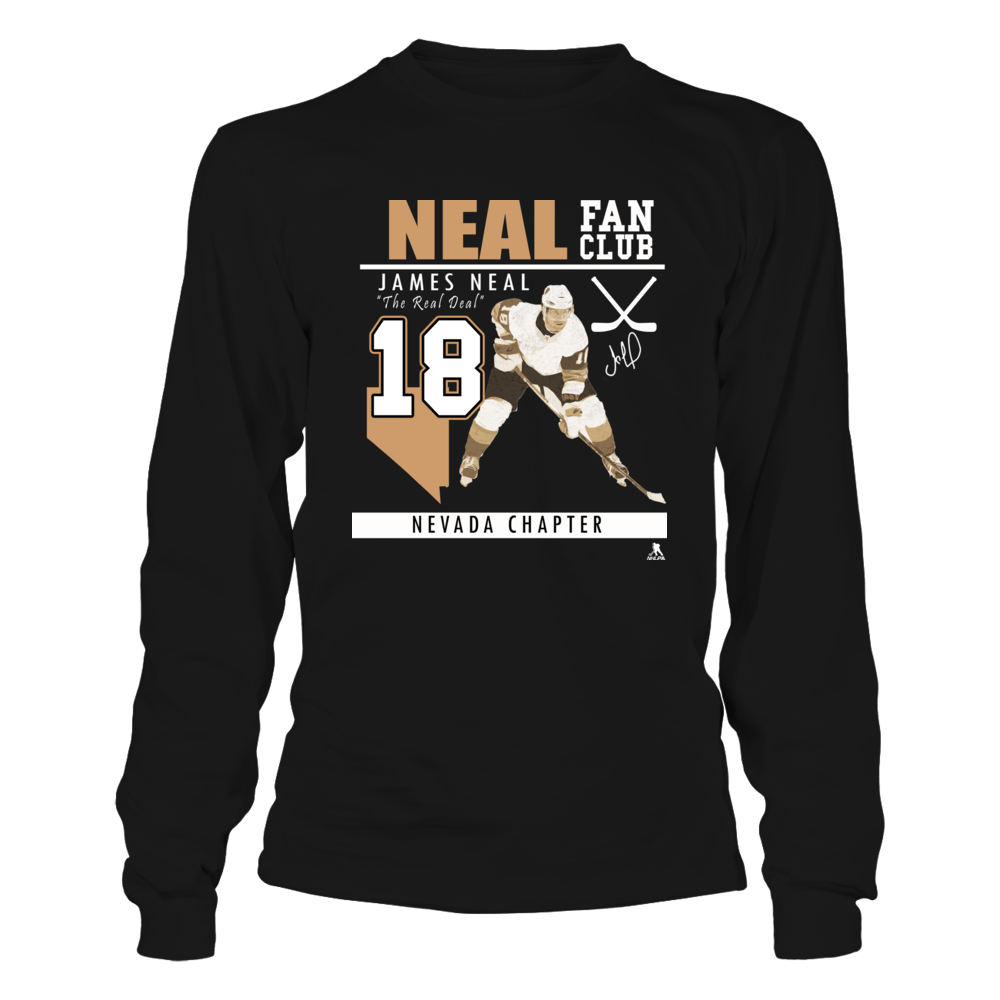 Real Deal James Neal No 18   - Fan Club, Nevada Chapter Front picture