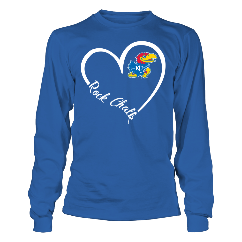 Kansas Jayhawks - Heart 3/4 Front picture