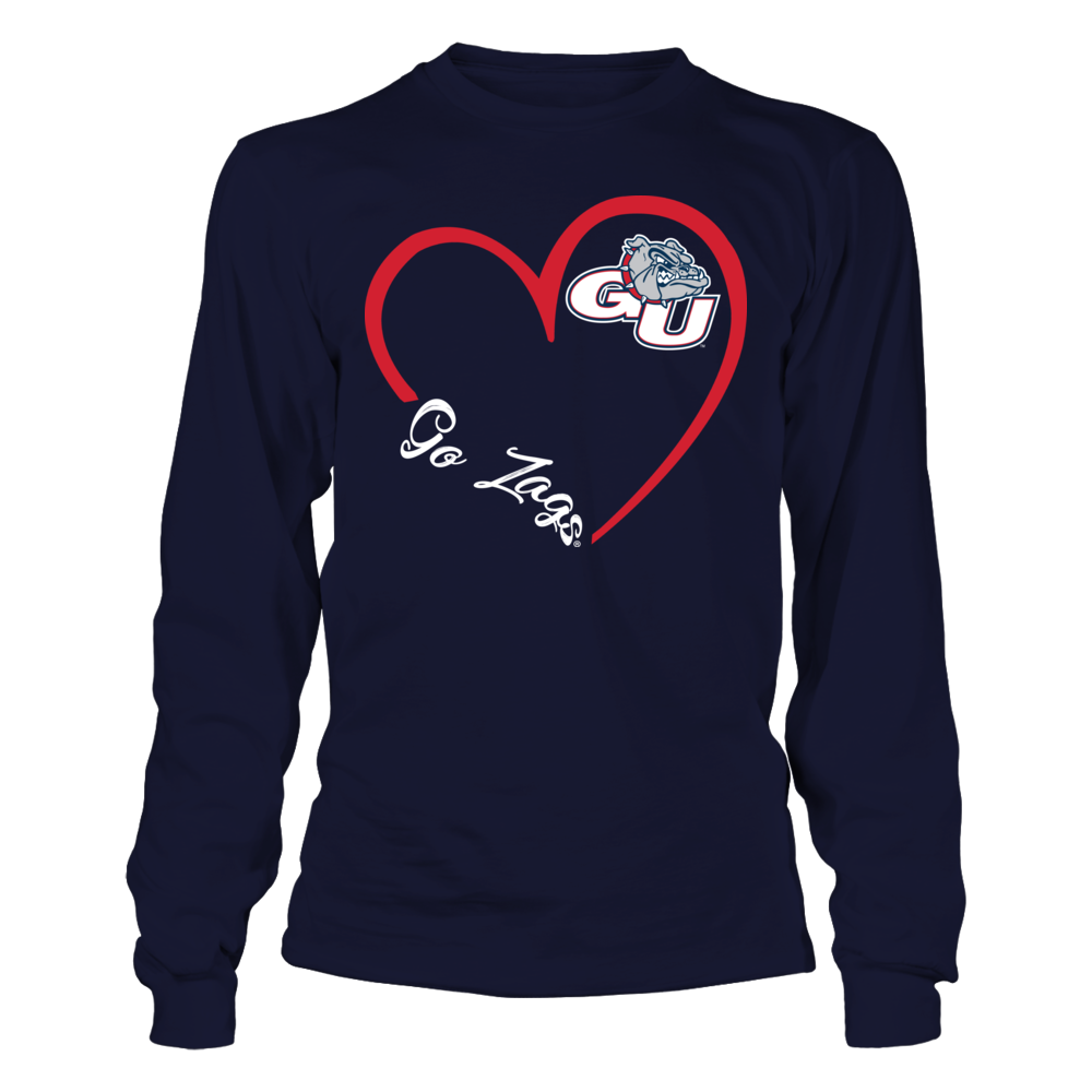 Gonzaga Bulldogs - Heart 3/4 Front picture