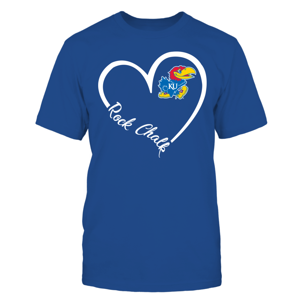 Kansas Jayhawks - Heart 3/4  - IF-IC32-DS37 Front picture