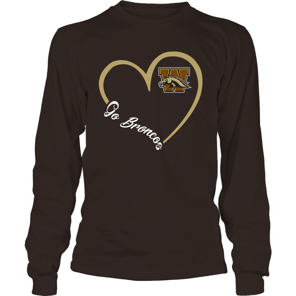 Western Michigan Broncos - Heart 3/4 Front picture