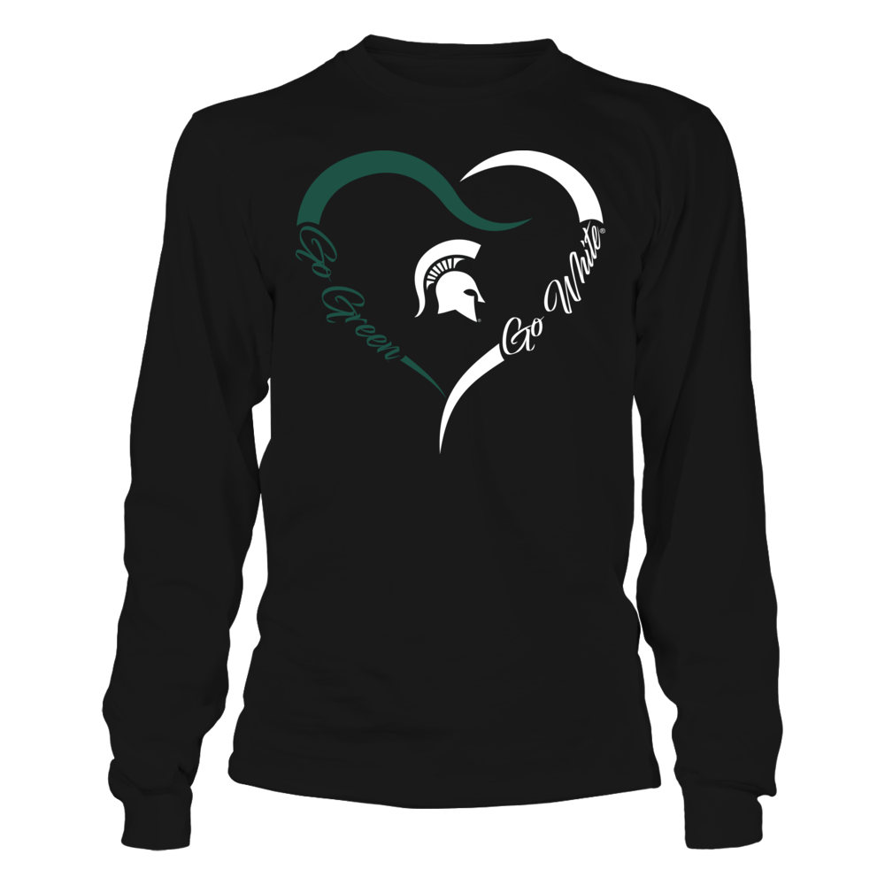 Michigan State Spartans - Half Heart Front picture