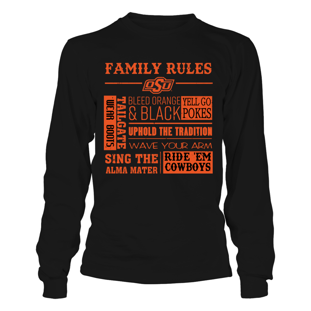 Oklahoma State Cowboys - Family Rules Front picture