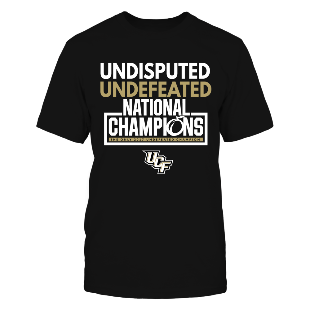 UCF National Champions Shirt - Undisputed Undefeated Knights Front picture