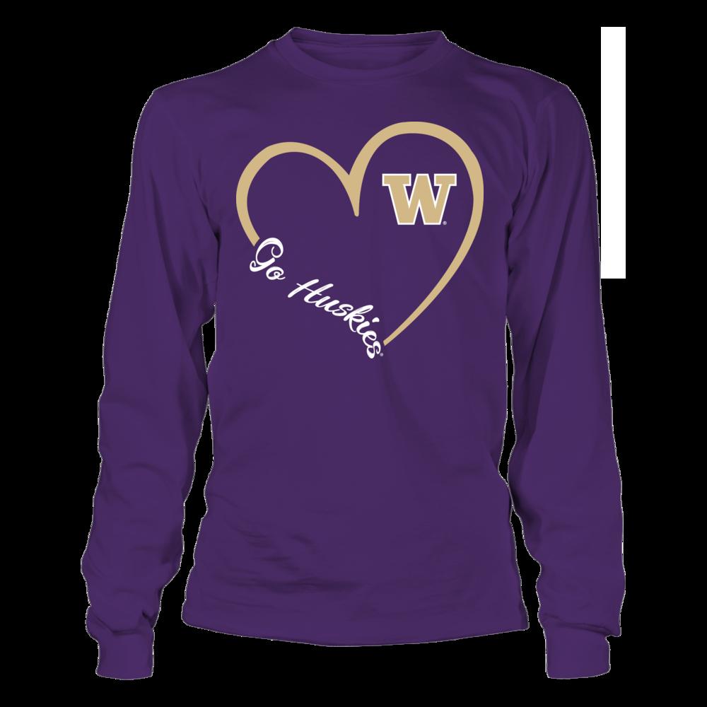 Washington Huskies - Heart 3/4 Front picture