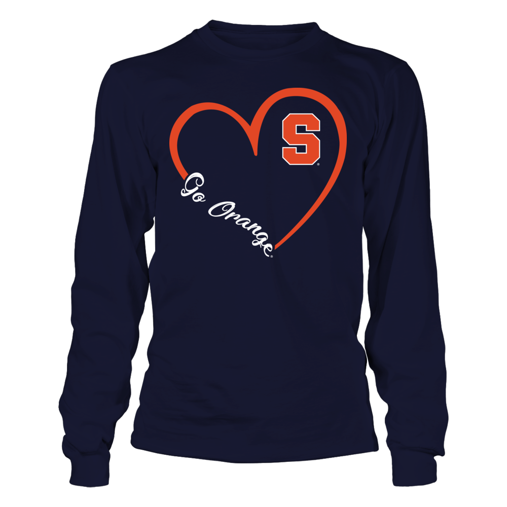 Syracuse Orange - Heart 3-4  - IF-IC32-DS37 Front picture