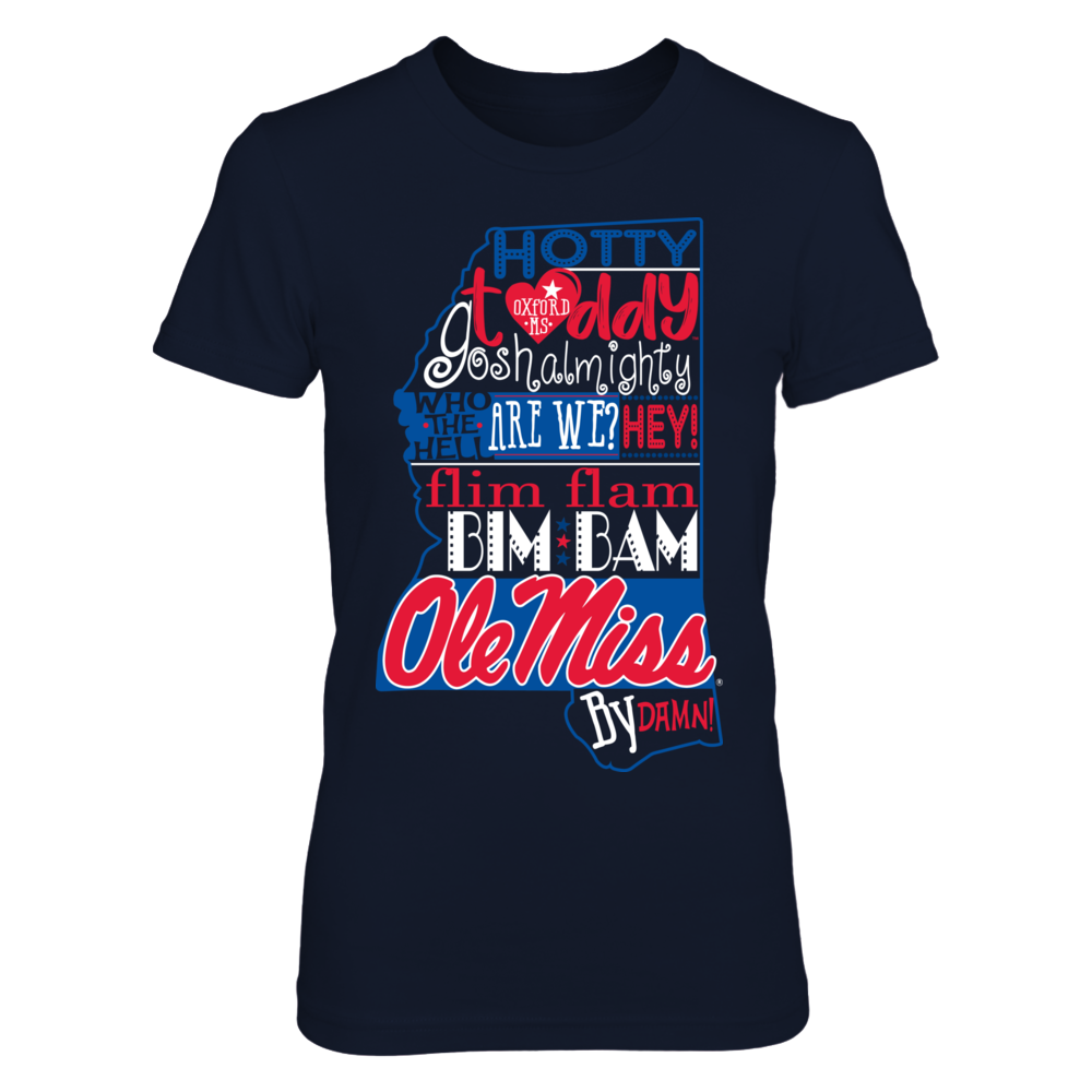 Ole Miss Rebels - Fight Song Inside State Map - IF-IC13-DS27 Front picture